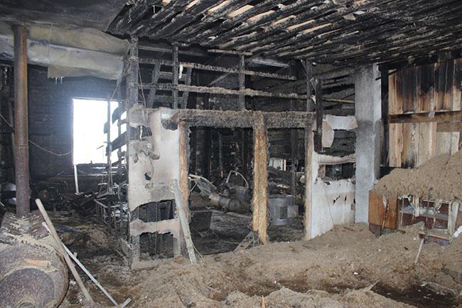 пожар в гараже перевоз