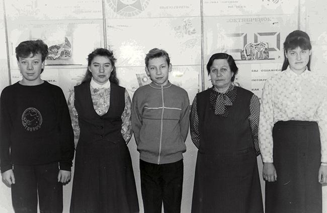 Т. Н. Митина с учениками