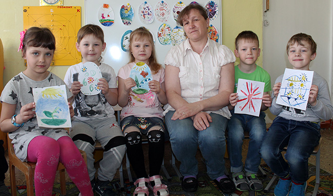 В.В. Шишкина и ее воспитанники