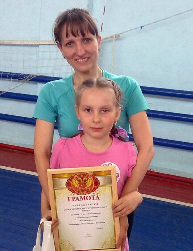 Мария Белоусова с дочкой Полиной